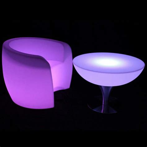 light up round luminous table mood lighting led furniture