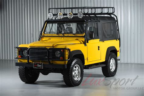 land rover defender 90 yellow 1997 land rover defender 90 90
