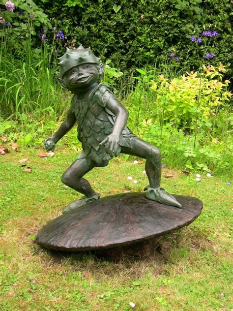 outdoor pixie elves sculpture forest garden pixies sculptures statues by sculptor nicholas collins in
