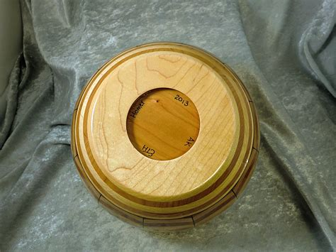 layered stave bowl  lid teds woodshop