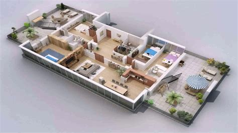 floor plan 3d house building design house plan one floor house design plans 3d youtube house