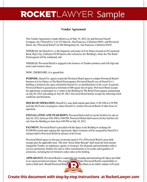 vendor contract template create  vendor agreement