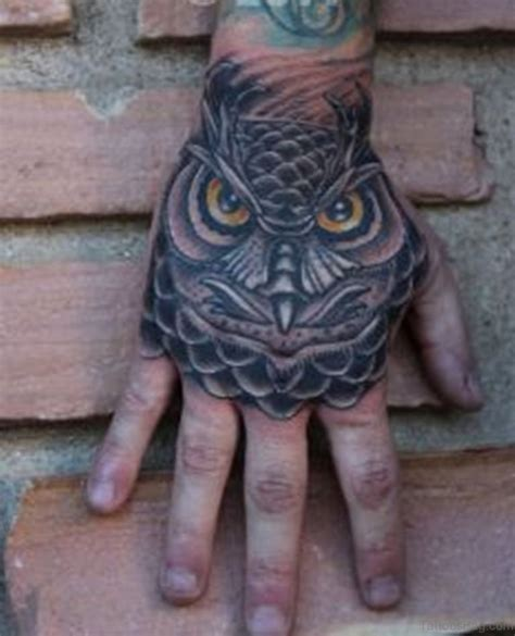 awesome hand tattoos 61 wonderful owl tattoos on