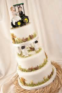 john deere country tractor fall wedding cake topper the wedding specialists