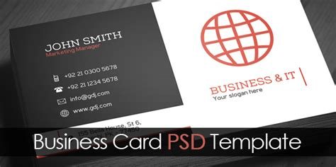single business card template photoshop free corporate business card template psd freebies