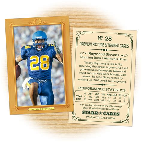 football player card template custom football cards vintage 11 series cards