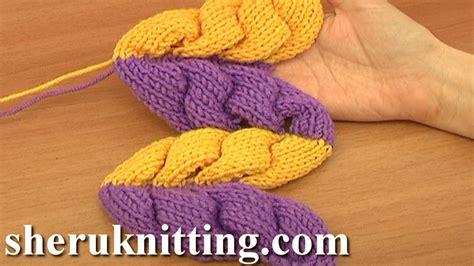 pfb knitting 3d knit wheat ear stitch pattern tutorial 9 part 2 of 2 3d