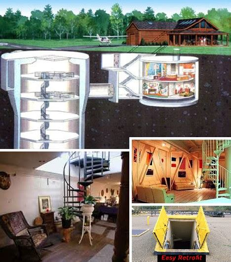 nuclear family housing in a real missile silo home