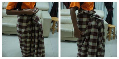 tutorial kain batik sarung tutorial cara pakai kain pelikat azhan co