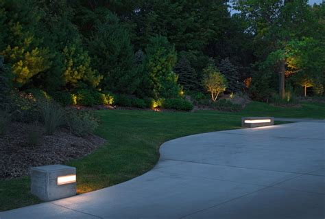 Modern Landscape Lighting 2012 Installation Contempory Contemporary Landscape Omaha By Mckay Landscape