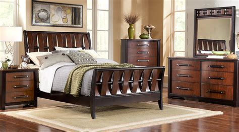 sleigh bedroom sets queen bedford heights cherry 5 pc queen sleigh bedroom queen