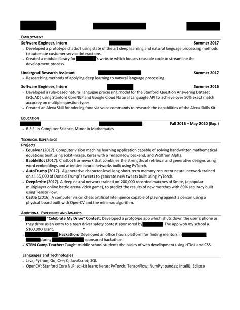 Computer Science Resume Reddit by Computer Science Resume Reddit Krida Info