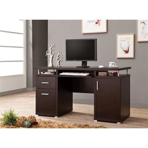 Coaster Computer Desk In Cappuccino 800107ii Coaster Desk