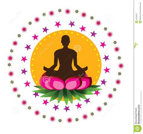 imagenes vectorizadas yoga postura del loto de la yoga ilustraci 243 n del vector