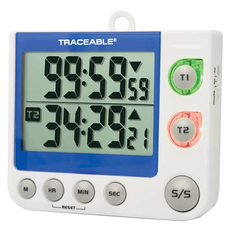 countdown timer with flashing light flashing led alert big digit dual channel traceable timer