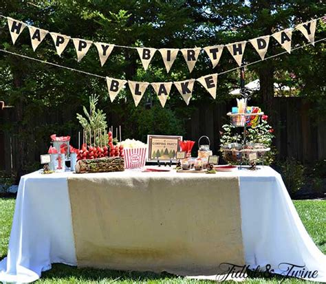 Backyard Birthday Ideas Backyard Cout Birthday Tidbits Twine
