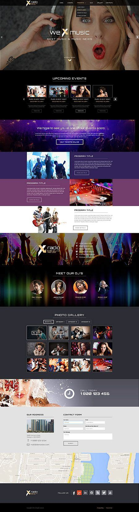 bootstrap themes unity radio station html bootstrap template html