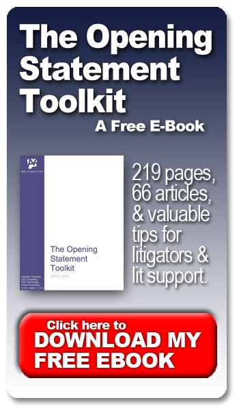 opening arguments books new free 219 page opening statements toolkit e book