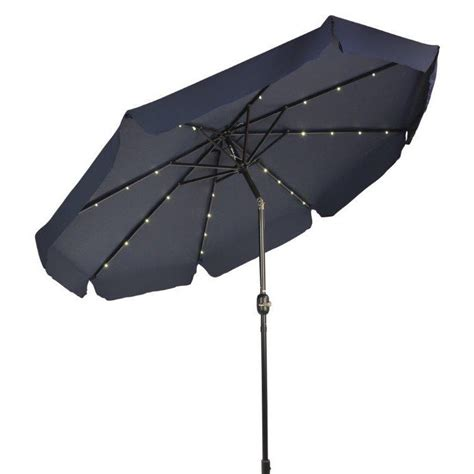Solar Lighted Patio Umbrella Trademark Innovations 9 Deluxe Solar Powered Led Lighted Patio Umbrella With De Ebay