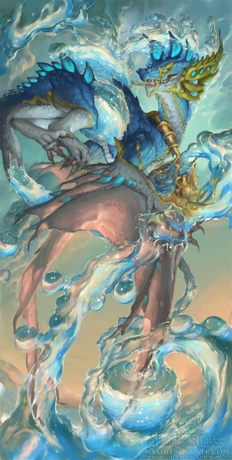 zodiac dragons aquarius   sixthleafclover