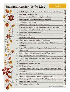 printable to do list landscape fall garden to do list