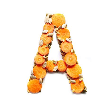 up letter with food a series of vitamin letters made from foods that contain