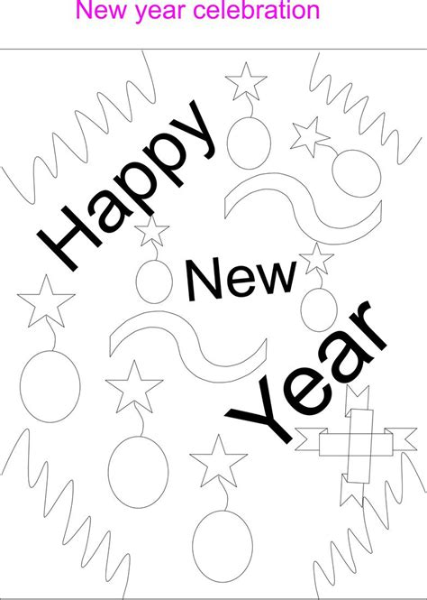 worksheets about new year new year coloring worksheet for