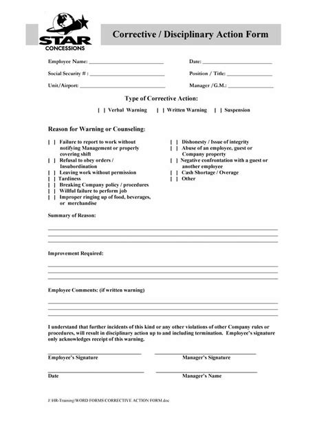 form 19 write up forms for employees besttemplates form example