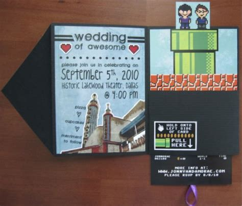 interactive wedding invitations interactive 8 bit wedding invitations offbeatbride