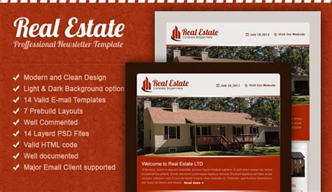 Real Estate Email Template Email Templates Marketing Real Estate Email Newsletter Templates