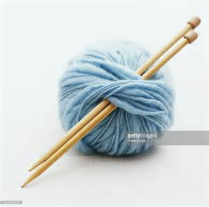 how to prepare yarn for knitting knitting needles in of yarn stock photo getty images