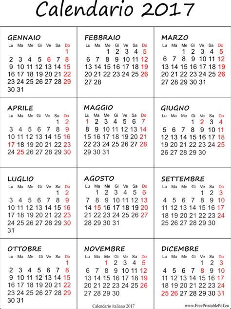 Calendario X Calendario 2017 Stabile Pdf Liberi Di Sta