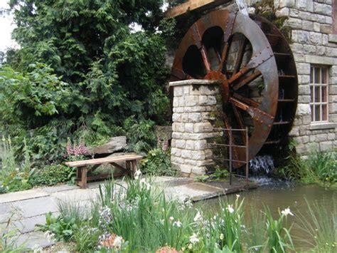backyard water wheel water wheel garden grows on you