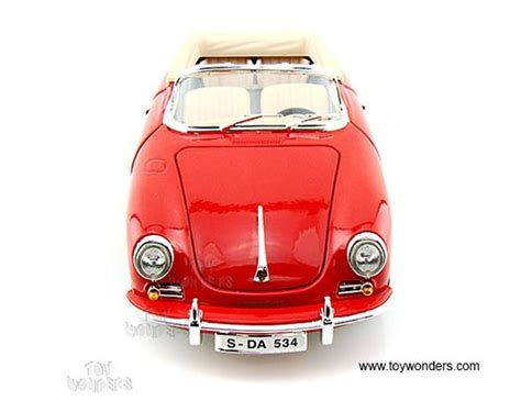 Diecast Bburago 118 Porsche 356b Cabriolet Merah bburago porsche 356b cabriolet convertible 1961 1 18