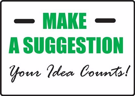 Your Idea make a suggestion your idea counts suggestion sign mgnf560vp