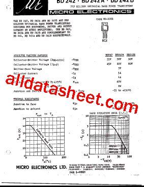 bd242 fiche technique pdf micro electronics