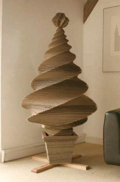 how to make a 3ft cardboard christmas tree cardboard tree provides an inkling of what else could be made out of corrugated