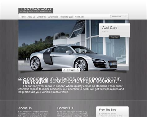Garage Web Website Designs For Car Garage Website Design For Mot