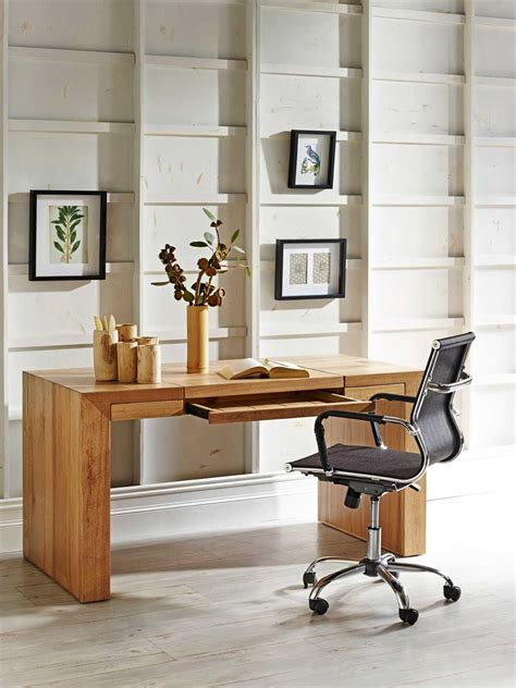 Small Easy Chairs Design Ideas Beauteous Idea Of Small Office Designs With Brown Wooden Table Plus Flowers On Pot Also