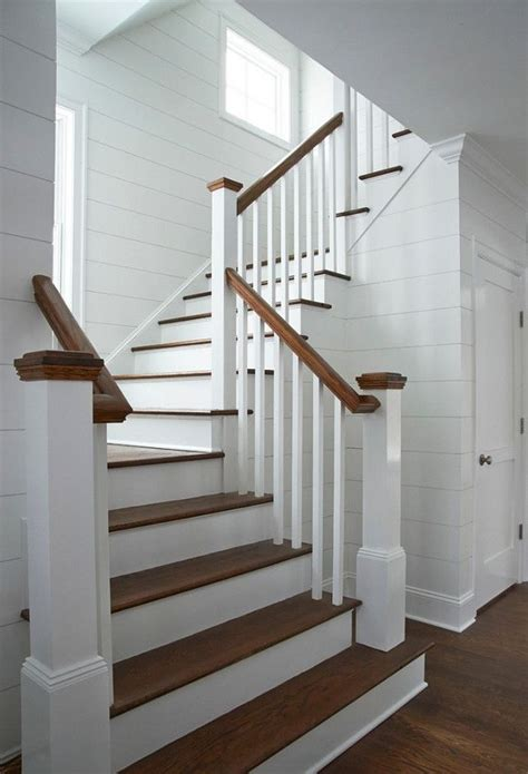 shiplap on stairs stairs farmhouse shiplap foyer google search a