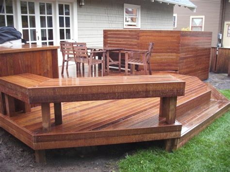 deck with built in bench deck bench quotes