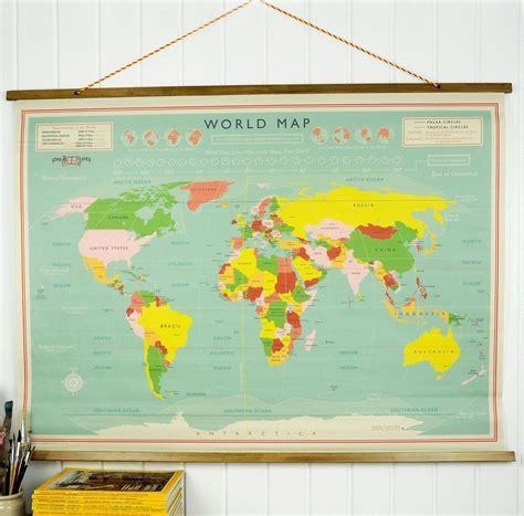 Home Interiors And Gifts World Map Wall Chart Rex London At Dotcomgiftshop