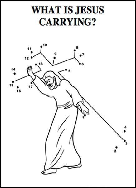 coloring pages jesus carrying cross jesus carrying the cross coloring page