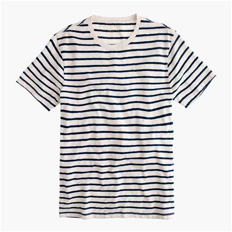 Claires Stiped T Shirt s slub cotton deck striped t shirt s knits j crew