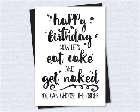 printable birthday cards girlfriend printable birthday card let s eat cake and by riverraindesigns