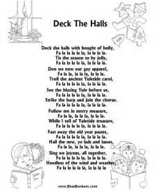 deck the halls lyrics printable words for quot deck the halls quot bluebonkers