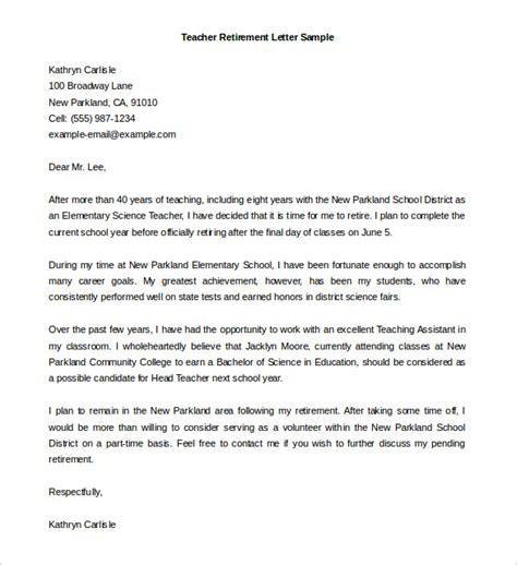 resignation letter sample teacher best of to write from school daily