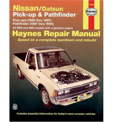 auto manual repair 2002 nissan pathfinder free book repair manuals nissan datsun pick up and pathfinder automotive repair manual sagin workshop car manuals
