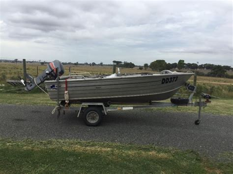 used tinny boat trailers for sale tinny boat quintrex bass 3 87m or 12ft 9in mariner