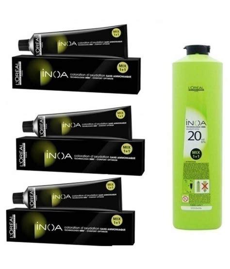 inoa hair color l oreal inoa no 4 with 6 20vol inoa developer 1000ml